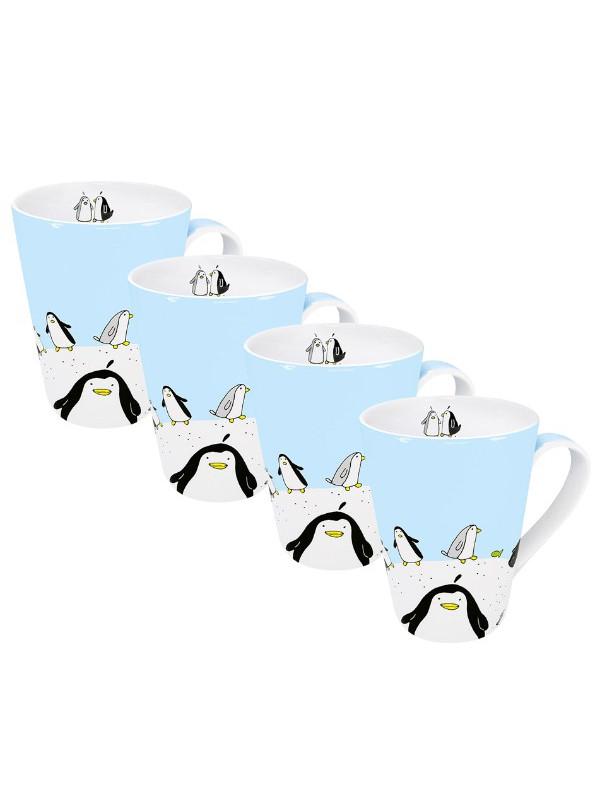KÖNITZ 4er-Set Becher Globetrotter Pinguin