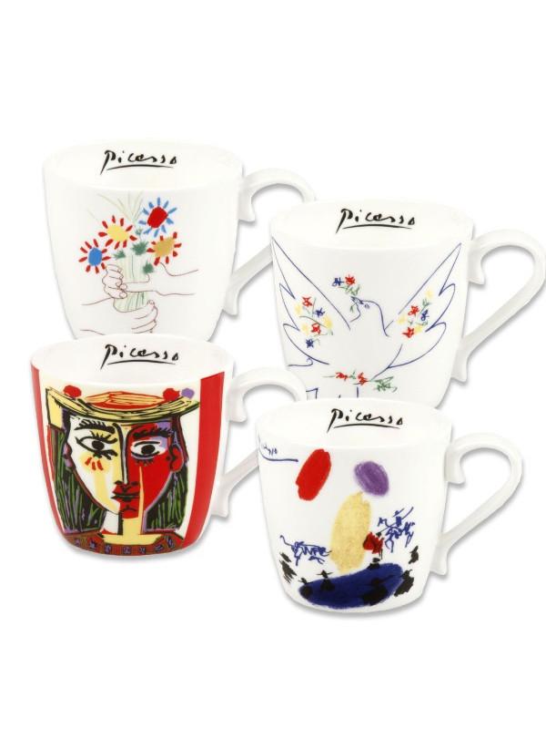 KÖNITZ 4er-Set Becher Picasso bunt