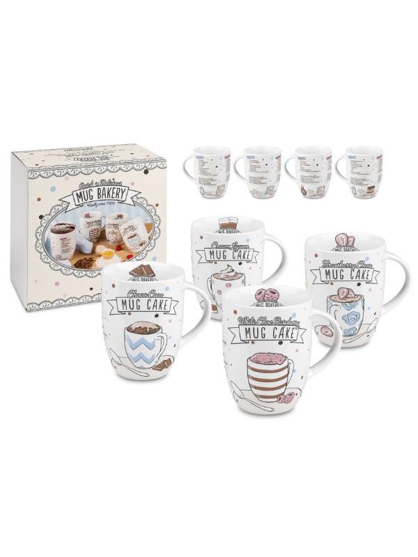 KÖNITZ 4er Becher Mug Bakery - im Geschenkkarton