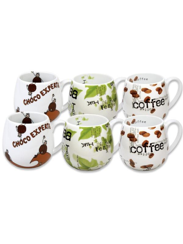 KÖNITZ 6er-Set Kuschelbecher Choco - Tea - Coffee