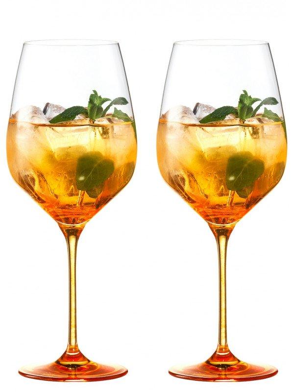 EISCH Spritz Orange Glas Secco Flavoured orangerot - 2 Stück im Geschenkkarton