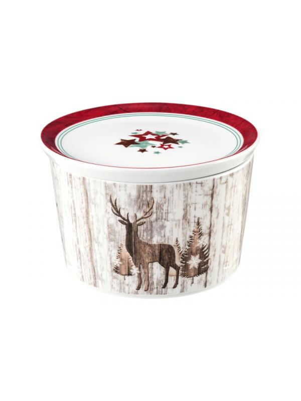 SELTMANN WEIDEN Schale rund mit Deckel 14x9 cm Life Christmas