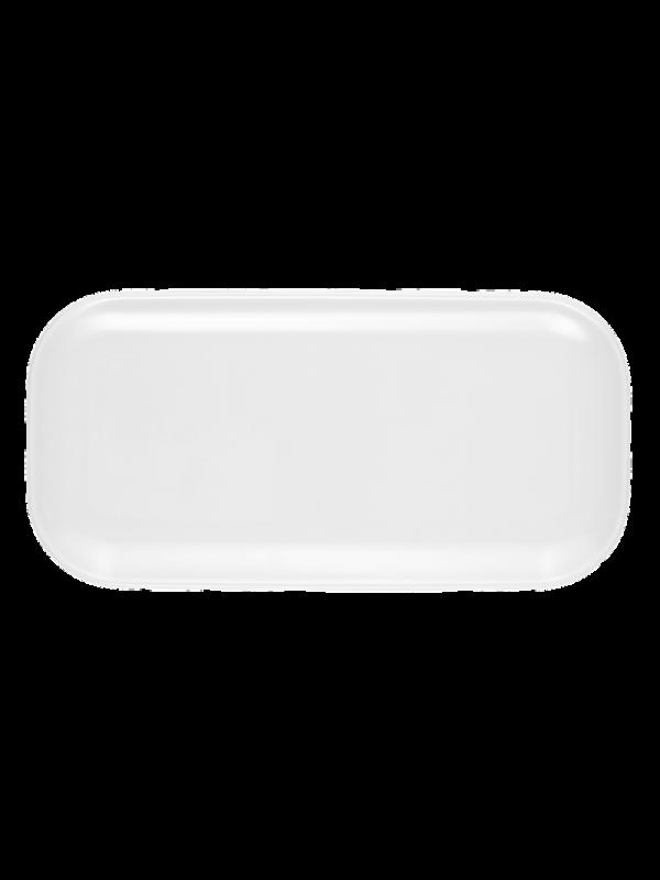 SELTMANN WEIDEN Servierplatte/Deckel eckig 24x12 cm No Limits weiß