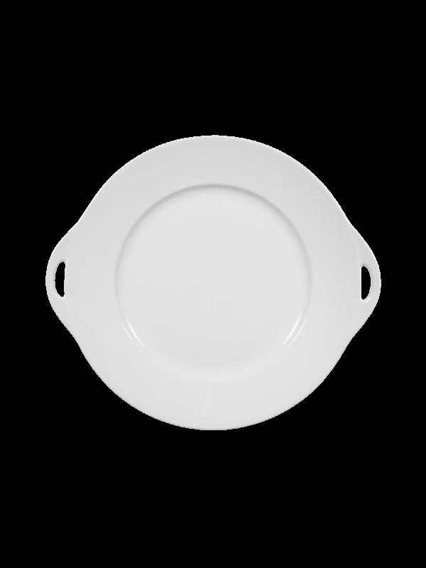 SELTMANN WEIDEN Kuchenplatte rund mit Griff 30x27 cm Rondo/Liane weiß