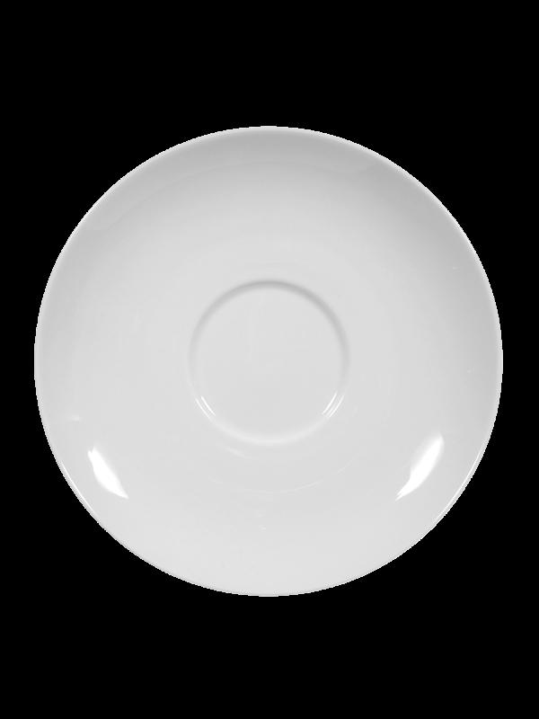 SELTMANN WEIDEN Milchkaffeeuntertasse 16 cm Rondo/Liane weiß