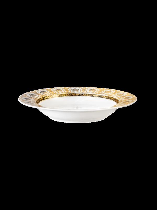 KÖNIGLICH TETTAU Suppenteller rund 22 cm Rondo/Liane Pompöös white