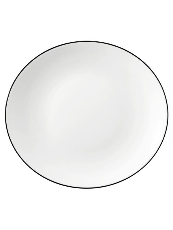 SELTMANN WEIDEN Speiseteller oval 29 cm Modern Life Black Line