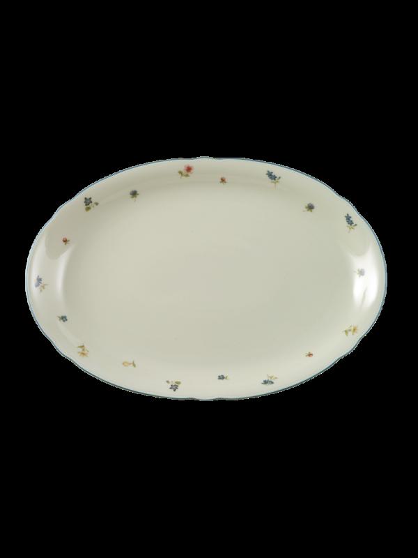 SELTMANN WEIDEN Servierplatte oval 34x26 cm Marie-Luise Streublume