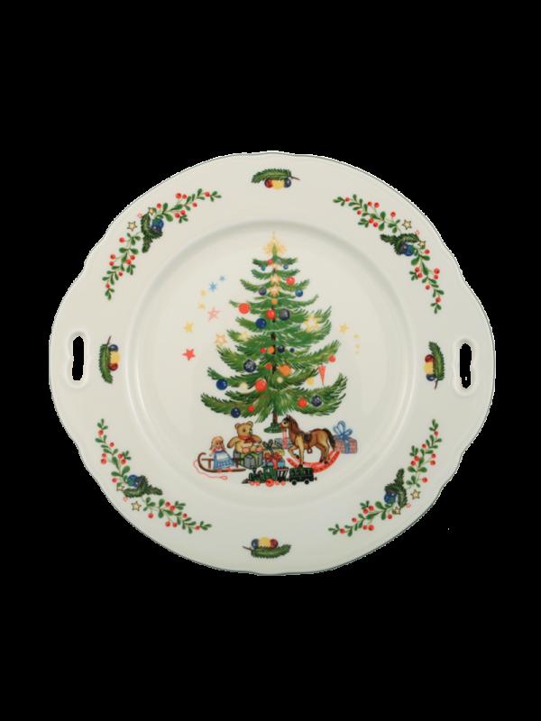 SELTMANN WEIDEN Kuchenplatte rund mit Griff 27x26 cm Marie-Luise Weihnachten
