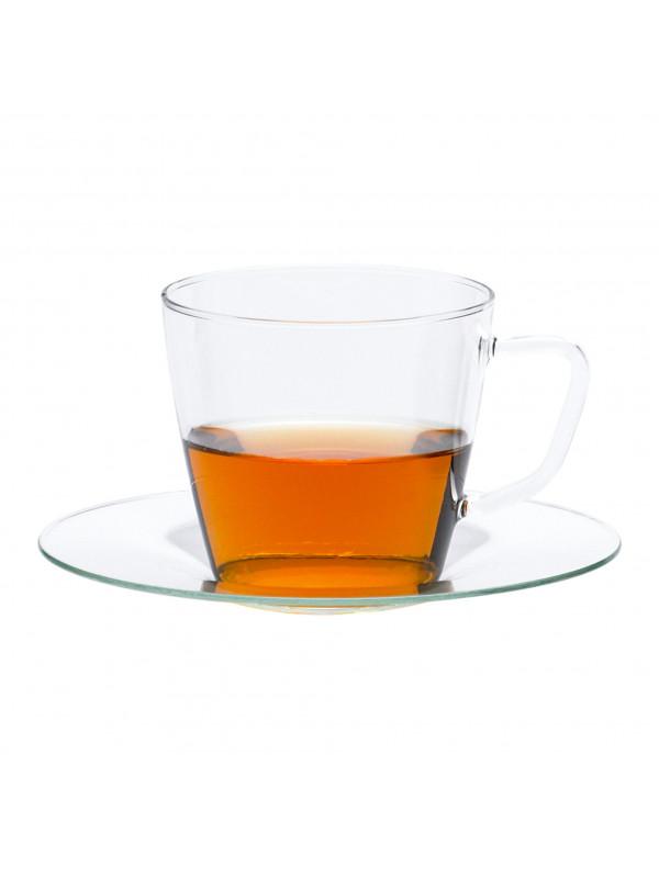 TRENDGLAS Tasse 0,25 l mit Glasunterteller Nova - G