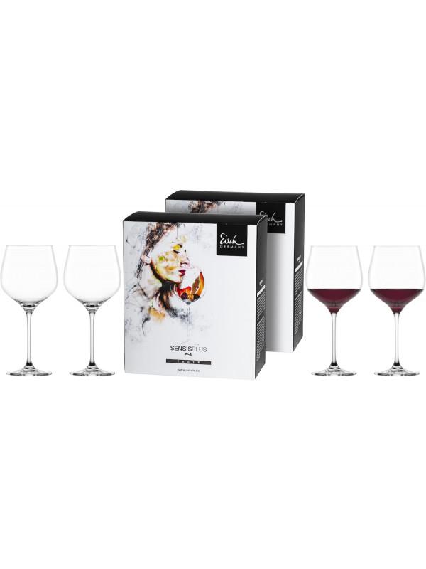 EISCH Burgunderglas groß Superior SENSISPLUS – 4 Stück im Geschenkkarton