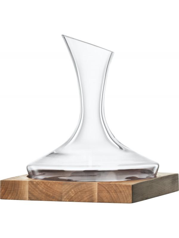 EISCH Dekantierkaraffe 750 ml No Drop Effekt auf Holzsockel Wood Edition