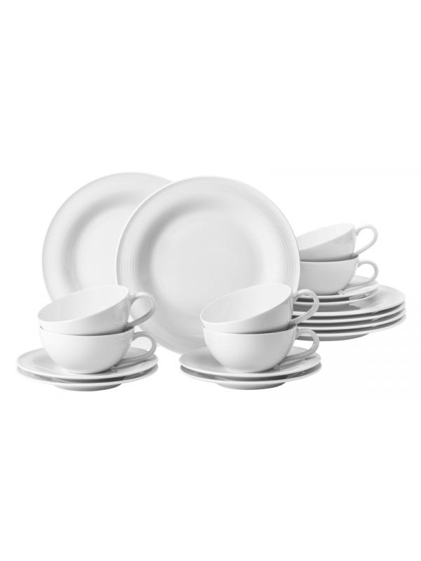 SELTMANN WEIDEN Teeservice 18-teilig groß Beat weiß