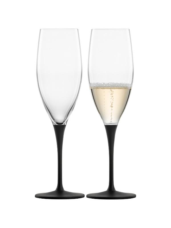 EISCH Champagnerglas black Kaya - 2 Stück im Geschenkkarton