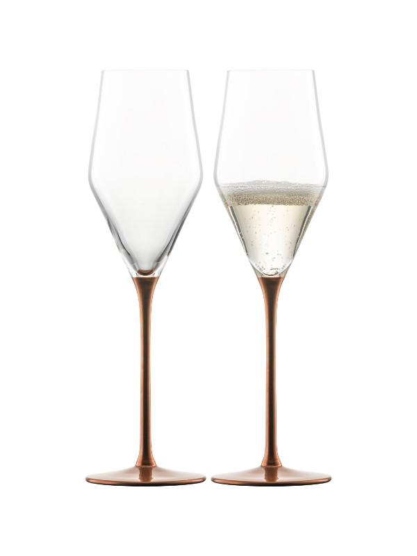 EISCH Champagnerglas mit Moussierpunkt Kaya - 2 Stück im Karton