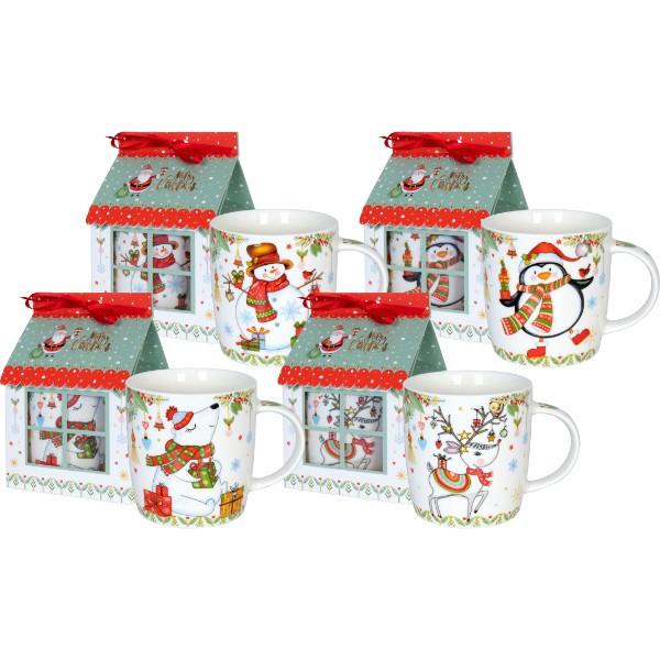 WAECHTERSBACH 24er-Set Weihnachtsbecher im Geschenkkarton