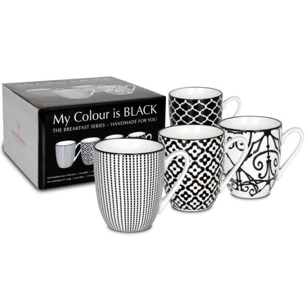 WAECHTERSBACH 4er Becher - My colour is black! im Geschenkkarton