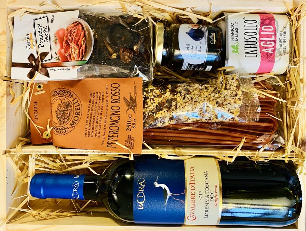"""""""Stella-Rossa"""" Italienische Geschenkbox aus Pinienholz von La Colombaina"""