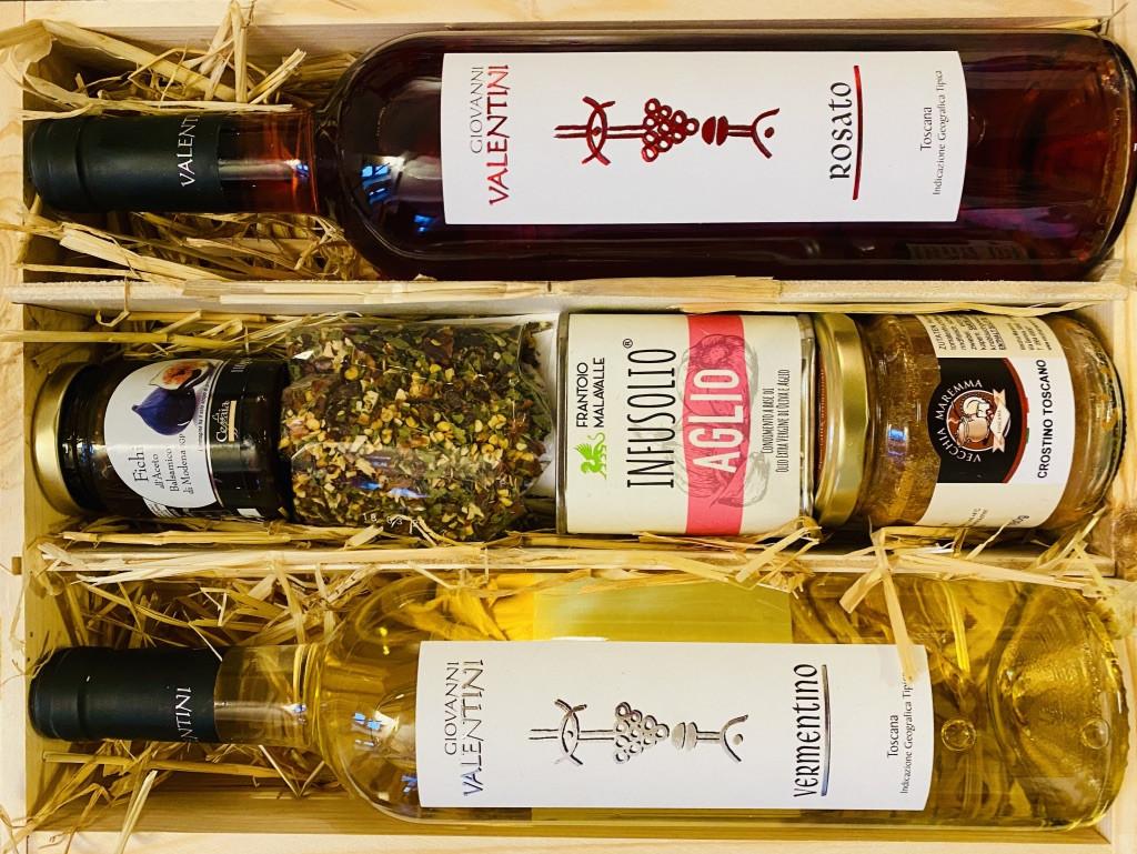 """""""Stella-Luminosa"""" Italienische Geschenkbox aus Pinienholz von La Colombaina"""