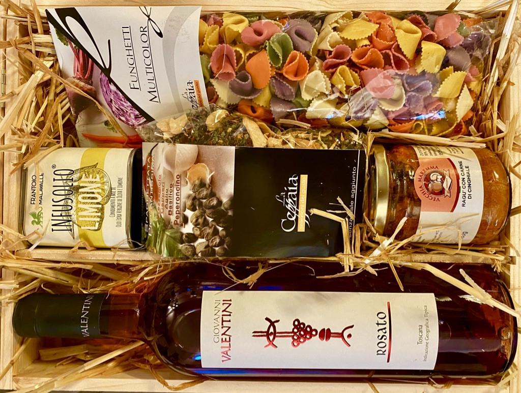 """""""Stella-Rosata"""" Italienische Geschenkbox aus Pinienholz von La Colombaina"""