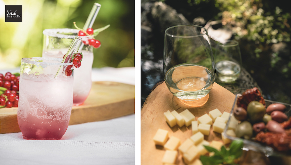 Wassergläser für den Sommertisch