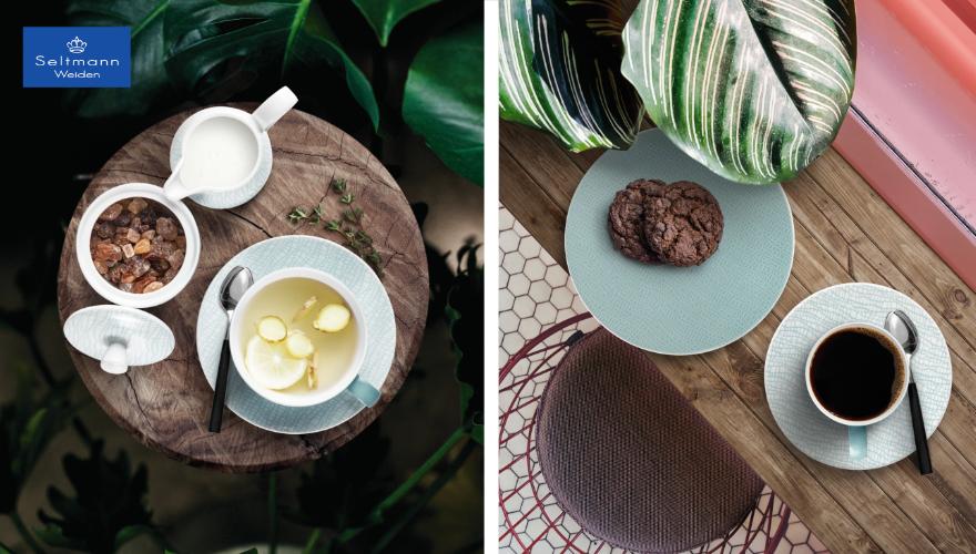 Kaffeetassen und Kaffeekannen für Ihren Sommertisch